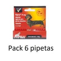 6 Pipetas Fiprex S Spot-On Perros Pequeños (2