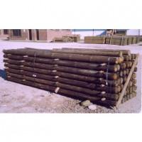 Postes de Madera con Punta. 2,50 M / 10-12 Cm Grosor