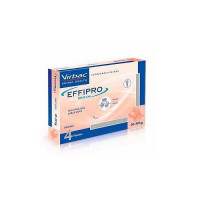 Effipro Spot On 4 Pipetas Antiparasitarias de 268 Mg para Perros Grandes