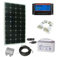 Kit Solar 100W con Batería Caravanas, Barcos