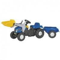 Tractor a Pedales con Pala y Remolque New Holland