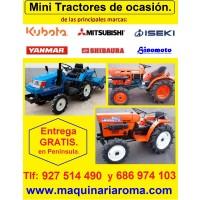 Minitractores, Tractores Pequeños, Kubota, Iseki, Mitsubishi, Hinomoto