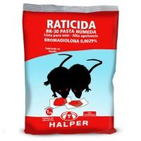 Pasta Húmeda Raticida Br-30 Veneno con Bromadiolona para Ratas y Ratones 1 Kg