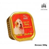 Bandeja Paté Rico en Buey 300g Comida para Perros