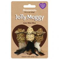 Gato Jolly Moggy 3 Mini Ratones Sisal Catnip