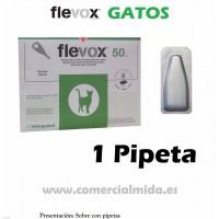 Pipeta Flevox 0,50 Ml Pulgas Garrapatas Fipronilo Gato Pipetas