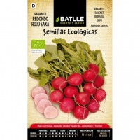 Rabanito Redondo Rojo Saxa. Semillas Ecológicas 5 G