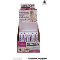 Expositor 30 Pipetas Diptron 2,68 Ml Perros 20-40 Kg Anti Pulgas y Garrapatas