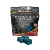 Maxirat PLUS BD-3 Bloque, Cebo en Bloques, Brodifacoum, Estuche 260 Gr (13 X 20 Gr)