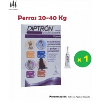 Pipeta Diptron 2,68 Ml Perros 20-40 Kg Pipette Anti Pulgas,garrapatas Pipetas