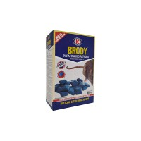 Raticida Brody Parafina en Óvulos 11/13G con Brodifacoum Veneno para Ratas y Ratones - Estuche 300 Gr