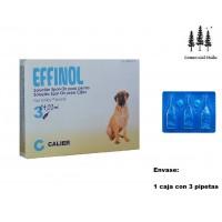 Caja 3 Pipetas Effinol 4,02Ml Pulgas y Garrap