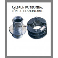 """Terminal Inox D52Mm Conico Desmontable D52Mmx2"""" RM con Fusible"""