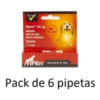 6 Pipetas Fiprex M Spot-On Perros Medianos (1
