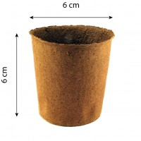 Maceta Biodegradable Fertilpot Redonda 6x6. 3000 Unidades.