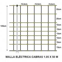 Malla Eléctrica Cabras 1.05 X 50 M