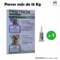 Pipeta Piretron (Perros+15 Kg) Pipetas Pulgas