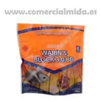 Raticida Warin'S Block 3.0 BD – Veneno para Ratones en Bloque Bromadiolona al 0,0029% - 250Gr