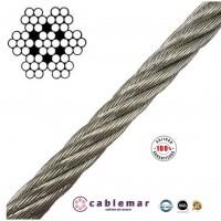Cable de Acero Inoxidable AISI 316 de 2 Mm. 7X7+0