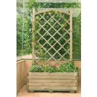 Jardinera Rectangular con Celosia en Arco