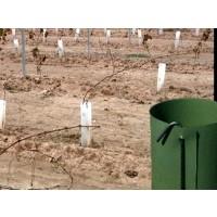Protector de Plantas contra Roedores, Herbicidas, Desbroces. con Varilla para Sujetar al Suelo