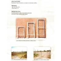 Puerta Galvanizada de 1 MT X  2Mt de Altura