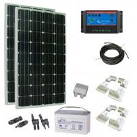Kit Solar 300W con Batería Caravanas, Barcos