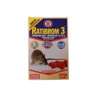 Ratibrom 3 300 Gr - Parafina en Óvulos de 11/13G Veneno para Ratas y Ratones