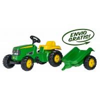 Tractor Infantil de Juguete a Pedales JOHN Deere con Remolque