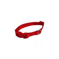 Collar Ajustable Nylon 20Mmx40-55Cm, Rojo