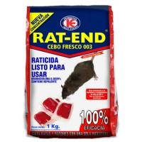 Cebo Fresco Raticida Rat-End Veneno contra Ratas y Ratones de Uso Doméstico 1 Kg