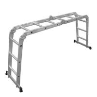 Escalera Plegable Multiposiciones. Altura en Modo Extendido: Aprox. 370 Cm
