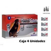 4 Pipetas Fipronilo Pestigon 4,02Ml Perros 40-60Kg Pulgas Garrapatas Pipeta