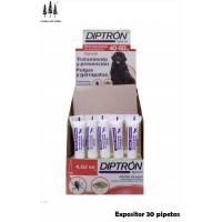 Expositor 30 Pipetas Diptron 4,02 Ml Perros 40-60 Kg Anti Pulgas y Garrapatas
