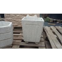 Maceton Cuadrado Granito Blanco 30X30X36