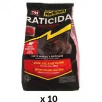 Muribrom Raticida Cebo Fresco Mata Ratas y Ratones con Bromadiolona 0,0029% 10 Kg