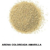 Arena Silice Coloreada Amarilla 25 Kg