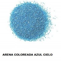 Arena Silice Coloreada AZUL Cielo 25 Kg