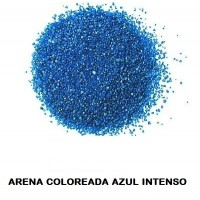 Arena Silice Coloreada AZUL Intenso 25 Kg