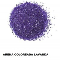Arena Silice Coloreada Lavanda 25 Kg