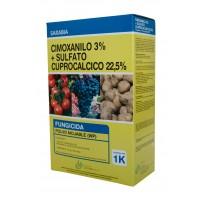 Cimoxanilo 3%+ Sulfato Cuprocalcico 22,5% , F
