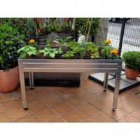Mesa de Cultivo en Casa Galvanizada para Huerto Urbano 150 X 50 Altura 45