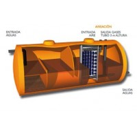 Compactos Fosa Filtro Aeróbico 11000 Litros