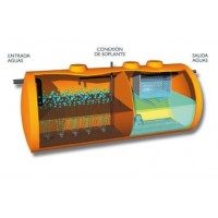 Depuradoras de Oxidación Total con Filtro Lamelar. 2300 Litros