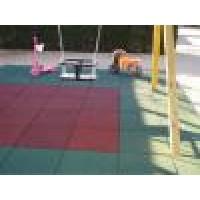 M2 Pavimento Parque Infantil de Caucho 50X50 CM y 40 Mm Espesor Color Verde