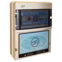 Protección y Maniobra para Filtración + 2 Focos 300W 12Vac con Control Digital Monofásico.