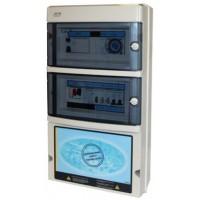 Protección y Maniobra para Filtración + 2 Focos 300W 12Vac + Diferencial Trifásico.