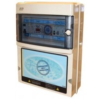 Protección y Maniobra para Filtración + 2 Focos 300W 12Vac + Diferencial y Control Digital Monofásico.
