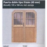 Puerta Doble Tipo Frison
