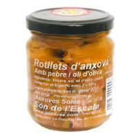 Rotllets de Anchoa en Aceite de Oliva 205Gr
